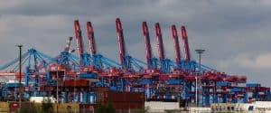Containerbrücken am Burchardkai in Hamburg