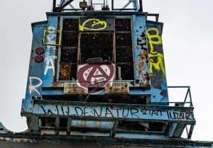 Führerhaus des Krans, Graffiti